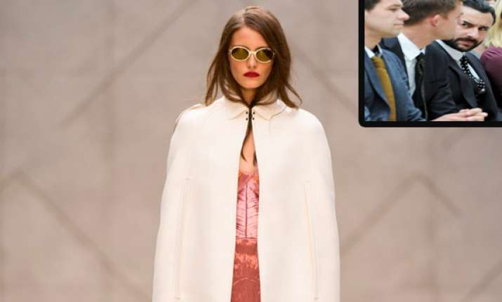 saif attends burberry show in london
