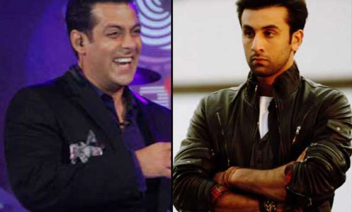 salman khan makes fun of ranbir kapoor s flop besharam