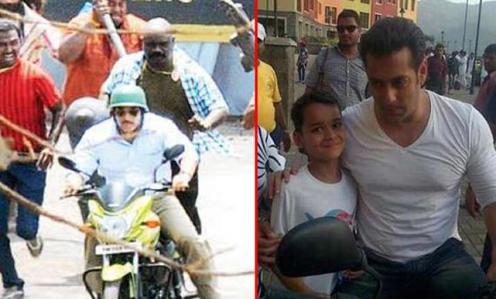salman khan spotted on the sets of mental view pics