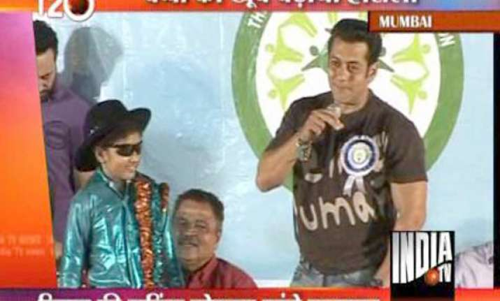 salman spends time with special children