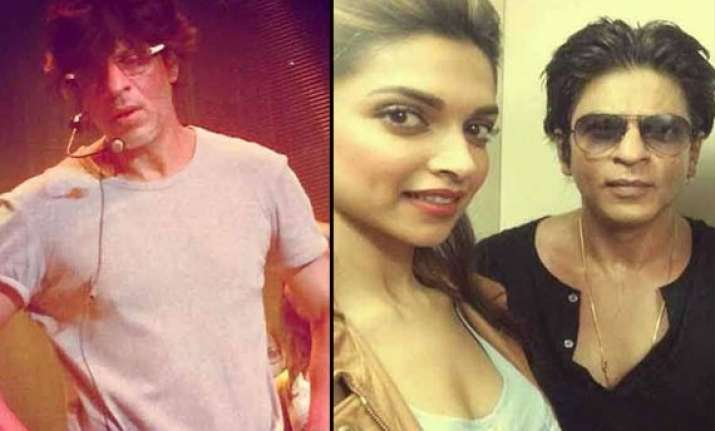 shah rukh deepika spotted rehearsing for ipl opening