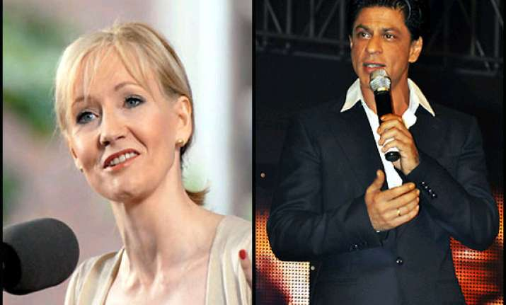 shah rukh khan credited jk rowling says actor s chief