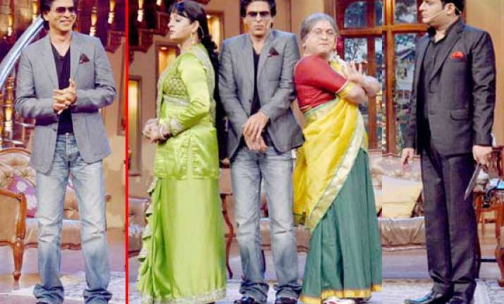 shah rukh khan promotes chennai express on comedy nights