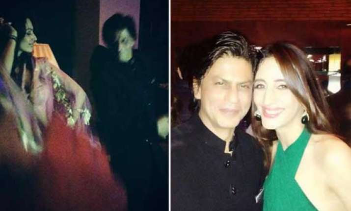 shah rukh khan danced with stars at eid party view inside