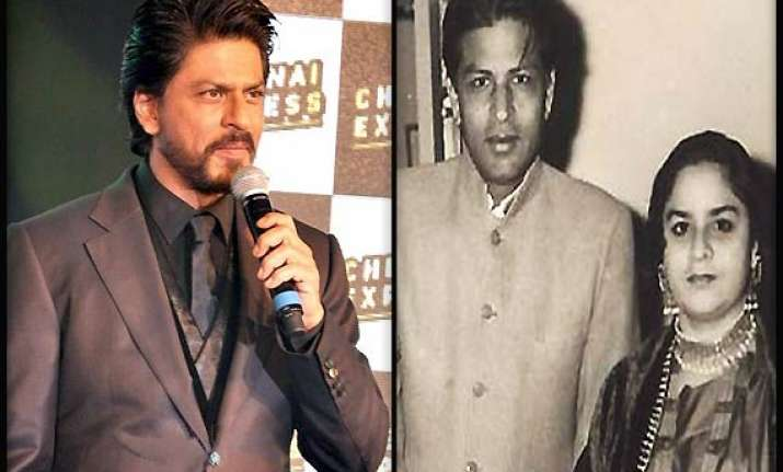 shah rukh khan gets nostalgic about his parents early