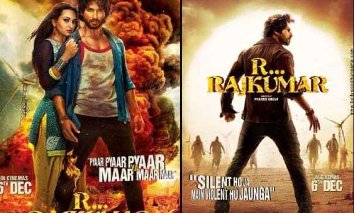 shahid kapoor s r..rajkumar first poster out view pics