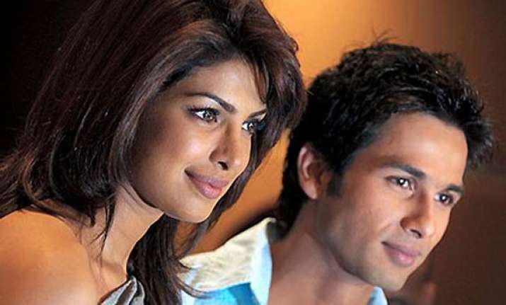 shahid priyanka refuse to rehearse together for shoot