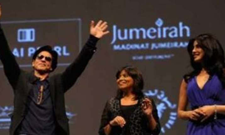 shahrukh priyanka promote don 2 in dubai