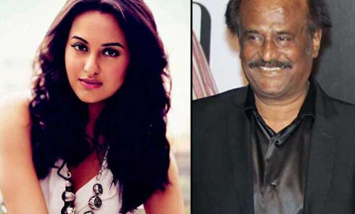 sonakshi sinha to play rajinikanth s grandmother in her