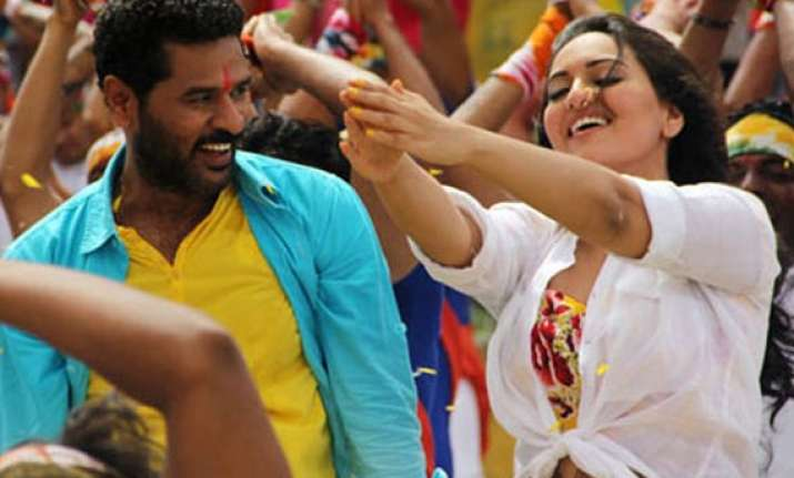 sonakshi sinha to match steps with prabhudeva again
