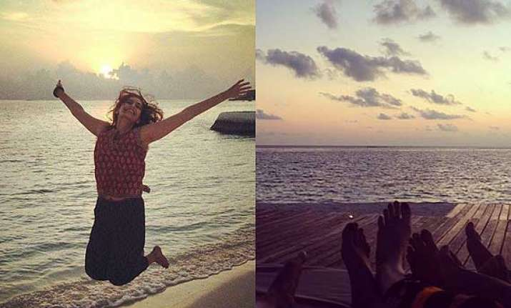 sonam kapoor s exotic holiday in maldives see pics