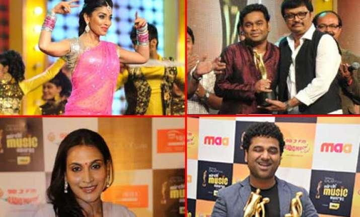 southern stars honoured at mirchi music awards south 2012