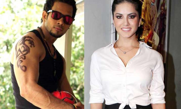 sunny leone shoots with south actor bharath for kaizad