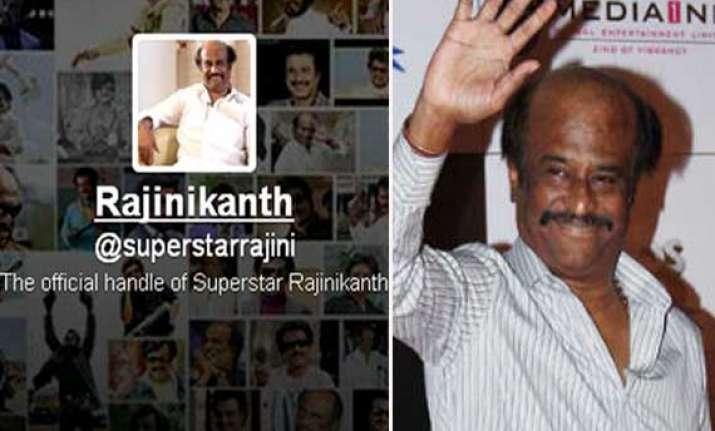 superstar rajinikanth joins twitter asks fans for best