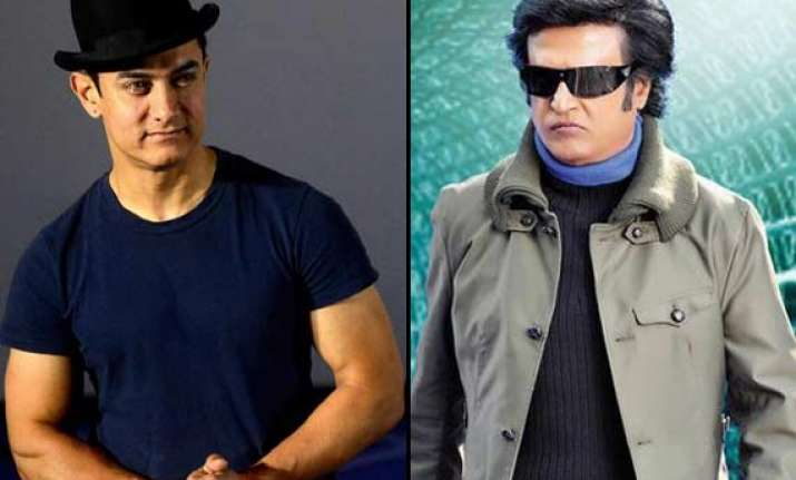 superstar rajinikanth and mr. perfectionist aamir khan in