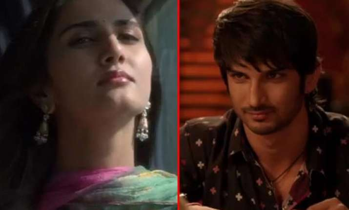 sushant singh rajput and vaani romance in the teaser of