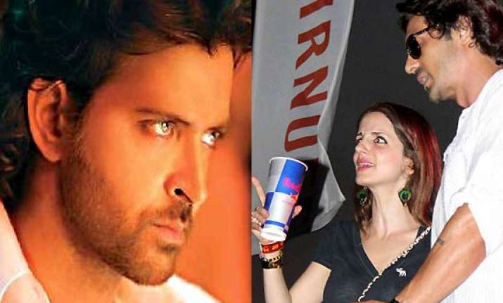sussanne caught partying with arjun rampal a day after