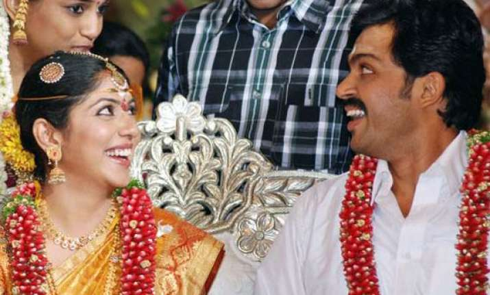 tamil actor karthi marries ranjini