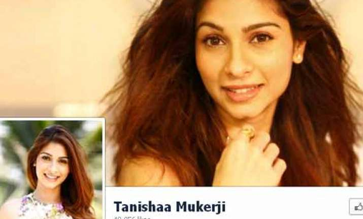 tanishaa mukerji launches facebook page