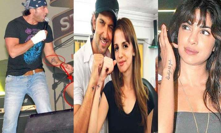 tattoos that bollywood stars use
