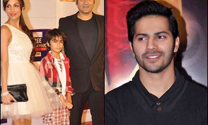 varun dhawan has found a fan in arbaaz s son arhaan