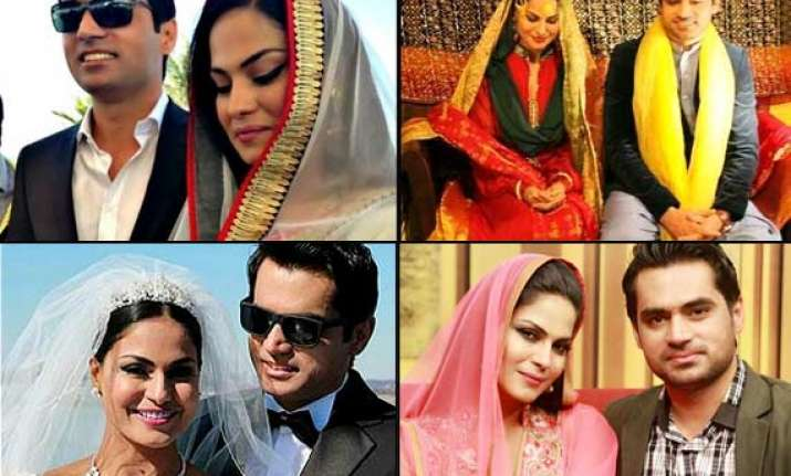 veena malik and asad khan s complete wedding album