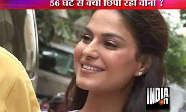 missing veena malik found at a hotel in mumbai