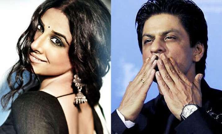 vidya expresses desire to work with shah rukh khan