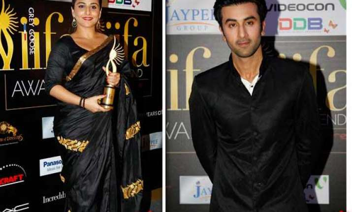 vidya ranbir get best actor awards at iifa