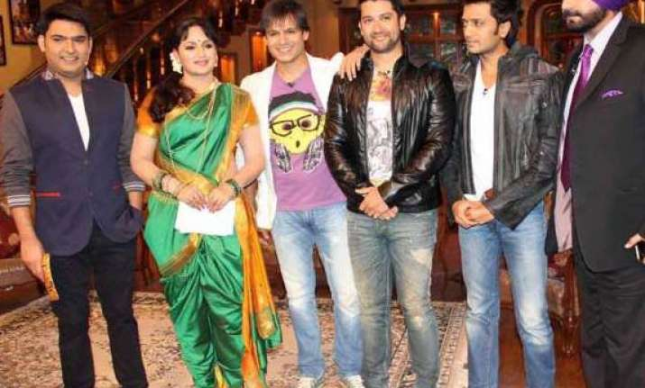 vivek oberoi another celebrity fan of comedy nights...