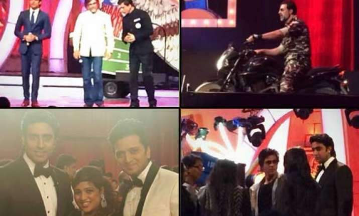 zee cine awards 2014 shah rukh deepika ranveer set the