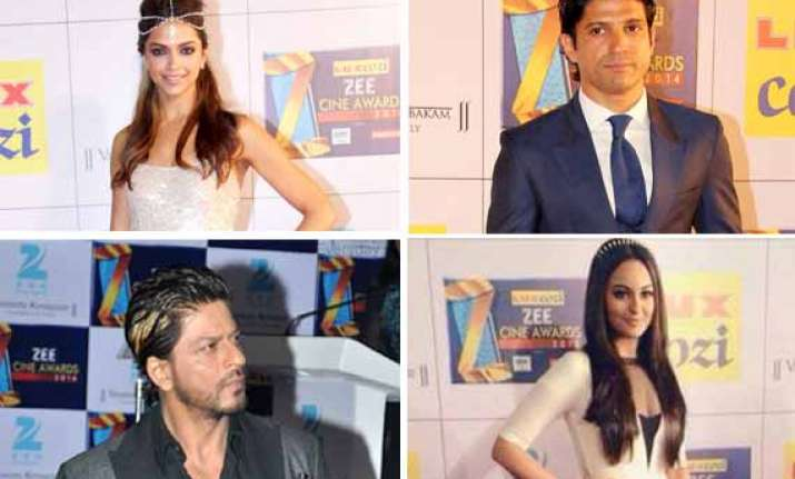 zee cine awards 2014 deepika shah rukh win top honours view