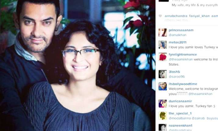 aamir kiran s love on display actor joins instagram see pics