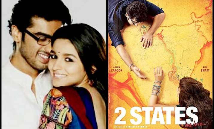 first look alia bhatt and arjun kapoor romance in 2 states