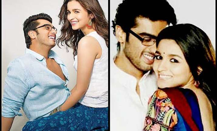 alia bhatt and arjun kapoor share a passionate kiss in 2