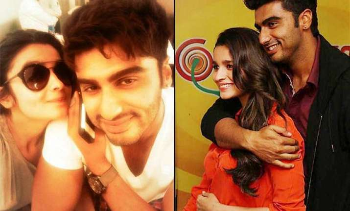 alia posts selfie with arjun seems to confirm dating