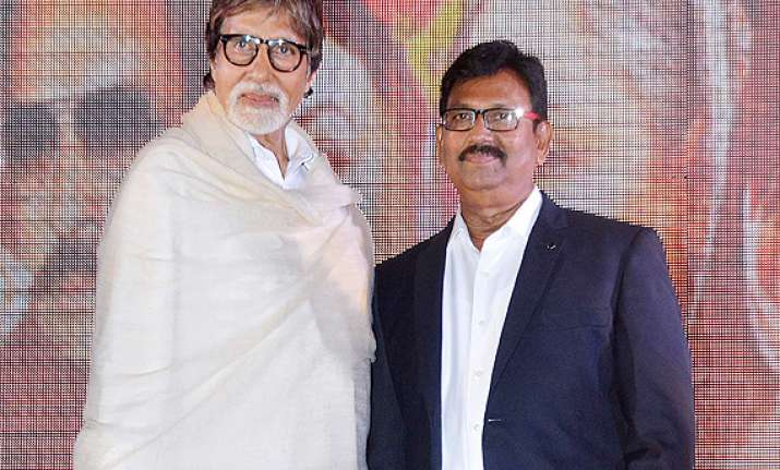amitabh bachchan acts in his make up man s film leader see