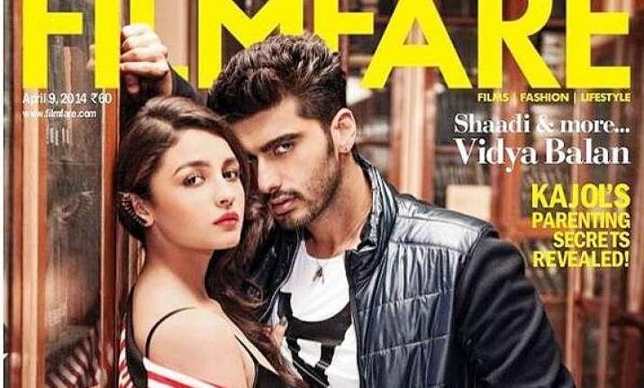 alia arjun show steamy chemistry as couple cover filmfare