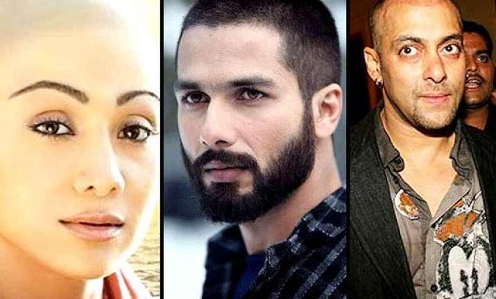 salman aamir shilpa shahid bollywood celebs who went bald