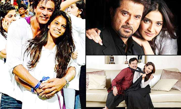 father s day special srk suhana anil sonam bollywood s most