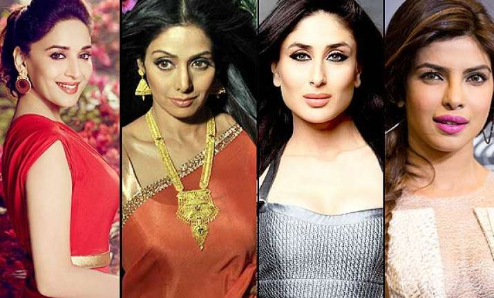 from sridevi madhuri to kareena priyanka bollywood s famous