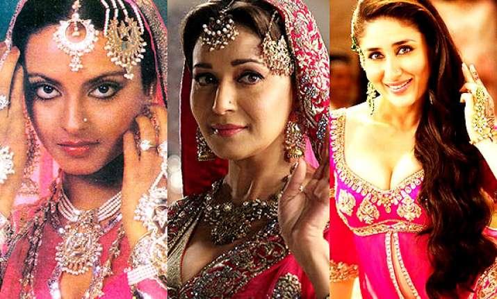 kareena madhuri rekha the mujra queens of bollywood see pics