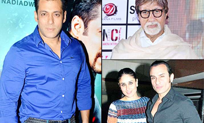 salman khan big b saif kareena bollywood celebs who