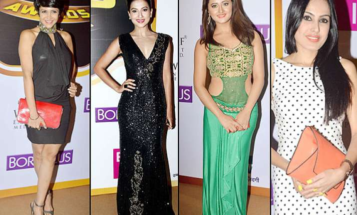 zee gold awards 2014 hot mandira bedi gauhar khan drashti