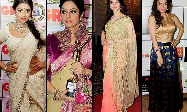 the gr8 women awards 2014 sridevi tamannah saina grace the