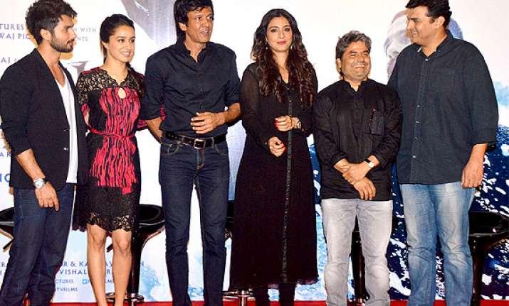 haider trailer launch shahid shraddha tabu attended the