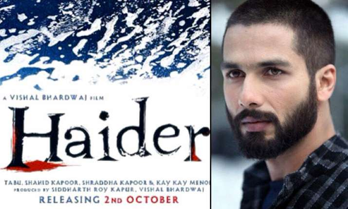 poster out haider looks blend of blood and agony see pics