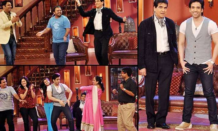 comedy nights with kapil jeetendra dances on the show back