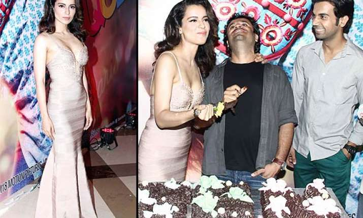 kangana back in her sexy avatar at queen s success bash see