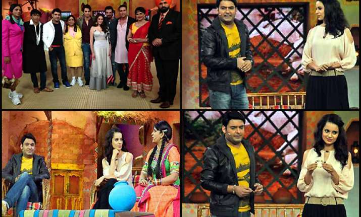 leaked images of comedy nights with kapil new set view pics